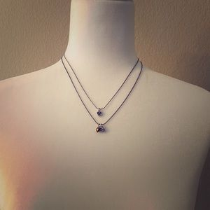 Brighton Two strand Silver Necklace